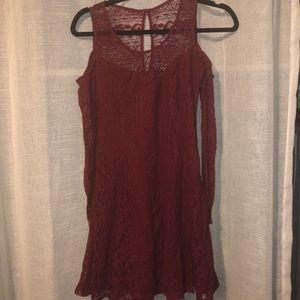 Hollister cold shoulder dress